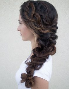 Awesome side braid for wedding more. awesome side braid for wedding more long braided hairstyles Long Braided Hairstyles, Fall Wedding Hairstyles, Girl Hairstyles, Bridal Hairstyle, Pretty Hairstyles, Easy Hairstyles, Romantic Hairstyles, Hairstyles Pictures, Hair Pictures
