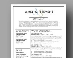 Modern Resume Template Two Page Cover Letter Use with Modern Resume Template, Resume Templates, Professional Resume, Lettering, Marketing, Education, Words, Cover, Creative