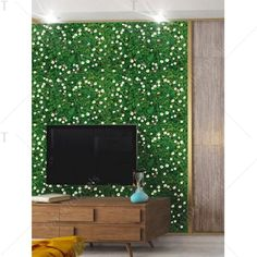 Removable Grass TV Background Wall Sticker - GREEN 60*90CM