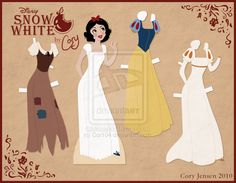 Snow White Paper Doll by Cor104 on DeviantArt