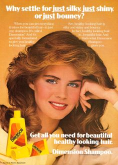Moving on to the '80s.. I never realized how obsessed I was with shampoo!!