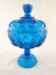 One Life Home Decor - Blue Compote Dish