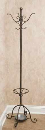 Wrought Iron - Coat Rack w/ Umbrella Stand