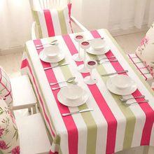 Manteles Listras Coloridas de algodão Toalha De Mesa De Natal Para Mesa Nappe Hotel Toalhas de Mesa Toalha De Mesa Table Cover Pano de Tabela(China)