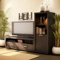 South Shore Skyline Chocolate TV Stand, for TVs up to 52 inch, Brown