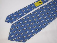 Vineyard Vines Martha's Vineyard Tie Sail Boats Sun Seagulls Whimsical Necktie #VineyardVines #Tie