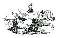 Tove Jansson - Muumipeikko, Tuutikki ja Pikku Myy Moomin Cartoon, Moomin Valley, Tove Jansson, Close My Eyes, Little My, Painting & Drawing, Fairy Tales, Troll, Fan Art