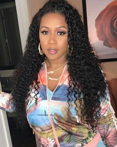 Remy Ma's waves are perfection. Oval Face Hairstyles, Summer Hairstyles, Weave Hairstyles, Cool Hairstyles, African American Makeup, African Beauty, Sew In Ponytail, Curly Hair Styles, Natural Hair Styles