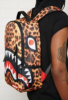 Sprayground Leopard Shark Backpack   Forever 21 - 1000172637
