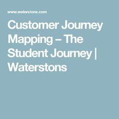 Customer Journey Map For Education Online Learning Platforms - Student journey mapping