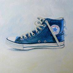Converse  30x30 Acrylic  ©CatSalterArt