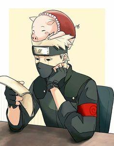 Rokudaime Hokage Kakashi and Tonton Naruto Uzumaki, Anime Naruto, Kakashi Sharingan, Kakashi Sensei, Naruto Cute, Anime Guys, Wallpapers Naruto, Naruto Wallpaper, Animes Wallpapers