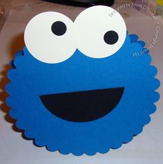 Cookie Monster Card - would make a  cute birthday invite