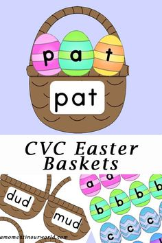 A great way to learn CVC words is with these Easter Baskets. With 213 CVC words, you child with have an amazing time practicing spelling. Print out all the pages on white cardstock and laminate for durability. Place or tack the letters to the top of each basket. To grab your copy, click on the …