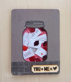 Awesome Valentine Shaker Card | a blog named hero (12.9.14)