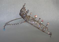 Ballet, Stage Light Sapphire Blue Tiara :: points down in front, sits high on head for balance
