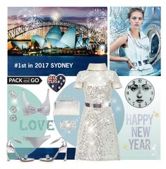 """#10 - My dream New Year's Eve @Sydney"" by sylandrya ❤ liked on Polyvore featuring Alexander McQueen, Fornasetti, Naeem Khan, Halston Heritage, Pandora, Kendra Scott, Sole Society, Effy Jewelry, sequineddress and glitterdres"