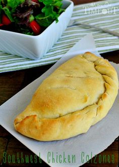 Southwest Chicken Calzones are a delicious and easy dinner any night of the week! |   #easy #chicken #dinner #food
