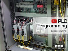 Ladder logic (LAD) is one programming language used with PLCs. Ladder logic uses components that resemble elements used in a line diagram format to Electrical Wiring, Electrical Engineering, Industrial Engineering, Chemical Engineering, Diy Electronics, Electronics Projects, Computer Technology, Computer Science, Computer Laptop