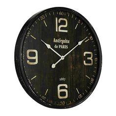 Buy the Cooper Classics 40856 Aged Black Direct. Shop for the Cooper Classics 40856 Aged Black Jedrak X Clock and save. Traditional Wall Clocks, Grey Clocks, Oversized Clocks, Paris 3, Tabletop Clocks, Clocks For Sale, Ballard Designs, Mercury Glass, Wooden Walls