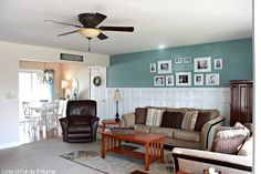 Love Of Family & Home: Board/Batten Gallery Wall in the Living Room--Basement?