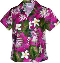 PL348-3688 Ladies Aloha Fitted Shirts [Pink] - Women's Hawaiian Shirts - Hawaiian Shirts | AlohaOutlet SelectShop