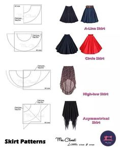 Best 10 Here are all the basic circle skirt patterns. Check out the link for mor… Best 10 Here are all the basic circle skirt patterns. Check out the link for more instructions and variations. Fashion Sewing, Diy Fashion, Ideias Fashion, Dress Fashion, Fashion Trends, Fashion Tips, Skirt Patterns Sewing, Clothing Patterns, Circle Skirt Patterns