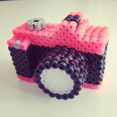 3D Camera hama perler beads by lovelycraftsdiy - DIY video tutorial