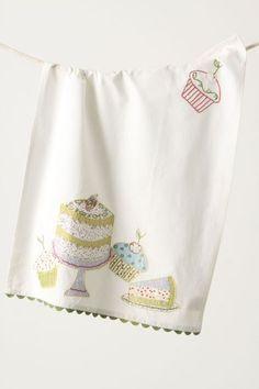 Deliciousness Dishtowel, Cake - anthropologie.com