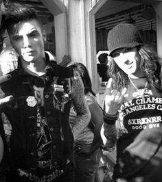 "Black Veil Brides, Andy and CC <span class=""EmojiInput mj230"" title=""Black Heart Suit ::hearts::""></span> I love em so much."