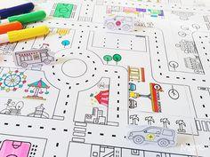 coloriage route à imprimer