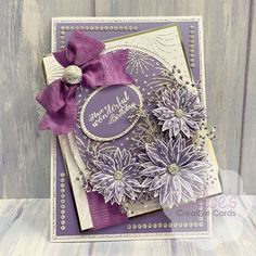 Chloes Creative Cards Craft, Cardmaking and Papercraft Supplies Flower Birthday Cards, Birthday Card Design, Flower Cards, Chloes Creative Cards, Stamps By Chloe, Create And Craft Tv, Cardmaking And Papercraft, Beautiful Handmade Cards, Get Well Cards