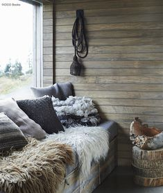 These photographs are taken from My Scandinavian Home by Niki Brantmark, available here.Photography by James Gardiner, © CICO BooksSaveSave Timber Cabin, Slow Design, Shepherds Hut, Australian Homes, Scandinavian Home, Cozy Living, Deco, My Dream Home, Modern Rustic
