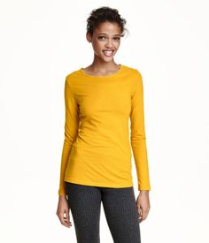 $13-Fitted, long-sleeved top in jersey.
