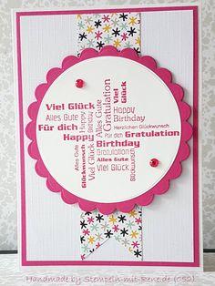 Glückwunschkarten - Grußkarten Set ST 052 Geburtstagsgrüße - ein Designerstück von Bastelfan1809 bei DaWanda