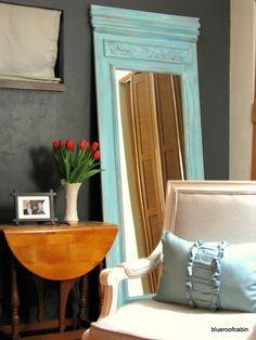 Remodelaholic | DIY Trumeau Floor Mirror Tutorial not really a door like it