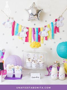 kit de fiesta unicornios