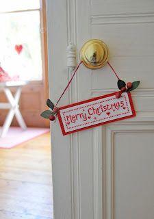 cute Christmas door sign