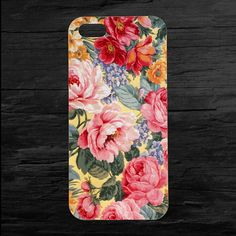 Flowers Floral Print iPhone 4 and 5 Case by theminifab on Etsy, $11.00