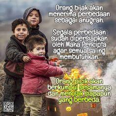 Perbedaan adalah Anugrah Nice Quotes, Best Quotes, Inspirational Quotes, Cartoon Jokes, Self Reminder, Islamic Art, Positive Thoughts, Java, Beautiful Words