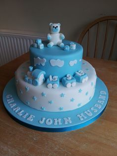 christening cake for boys Baby Birthday Cakes, Baby Boy Cakes, Cakes For Boys, Cupcakes, Cupcake Cakes, Baby Dedication Cake, Christening Cake Boy, Torta Baby Shower, Cake Icing