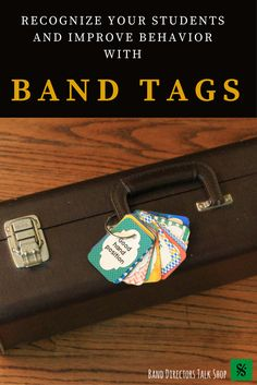 "$6 band tags for student recognition! These make great rewards for improvement and good behavior. Visit ""Band Directors Talk Shop"" on Teachers Pay Teachers for band lesson plans, band games, band activities, beginning band ideas, band bulletin board sets, rhythm games, note name games, music word walls, practice reports, rehearsal techniques, woodwind, brass and percussion instrument care, band teaching strategies, motivational quotes, elementary music ideas & elementary music games!"