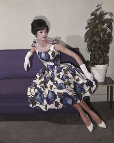 Early 1960s evening dress perfection. Anne St Marie.