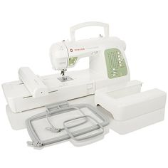 I am really leaning toward this one!!   Singer® Futura Quartet™ 4-in-1 Machine w/Value Package