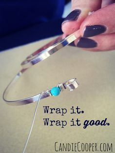 Jewelry making-- Wire wrapping with Artistic Wire from @Beadalon pluse a GIVEAWAY!