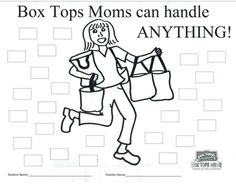 Box Tops Moms can handle ANYTHING! collection sheet