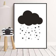 Kalp Bulutu / Love Cloud. Doovar'dan rengarenk çocuk posterleri!