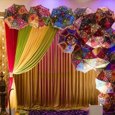 Umbrella Decorations, Diwali Decorations, Indian Wedding Decorations, Wedding Reception Decorations, Handmade Decorations, Garden Decorations, Wedding Ideas, Mehndi Decor, Mehendi