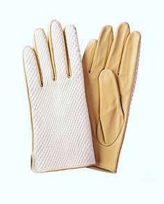 91a27ce8e07688 Mix materials in gloves |♢F&I♢ Best Gloves, Ladies Gloves, Leather Gloves