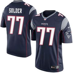 29e7e863abb Nike Limited Nate Solder Navy Blue Youth Jersey - New England Patriots #77  NFL Home